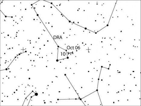 賈可比尼-秦諾彗星回歸十月天龍座流星雨可能出現更多的流星