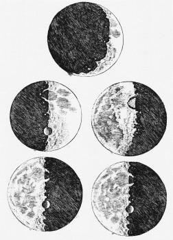 409年前伽利略首次用望遠鏡觀測月球