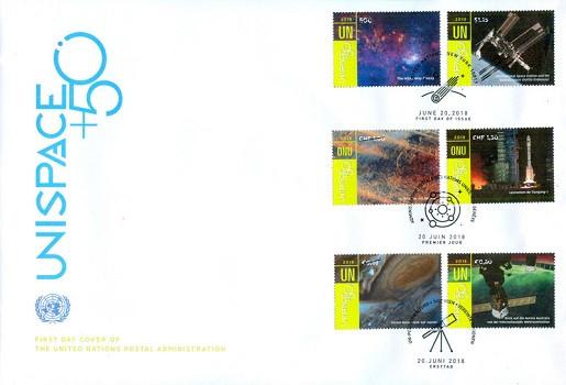 香港郵政代銷海外郵品:聯合國外太空會議50周年(翌日最後)