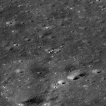 美國月球勘測軌道飛行器拍攝到玉兔二號