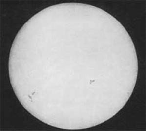 174年前法國物理學家拍攝第一張太陽照片