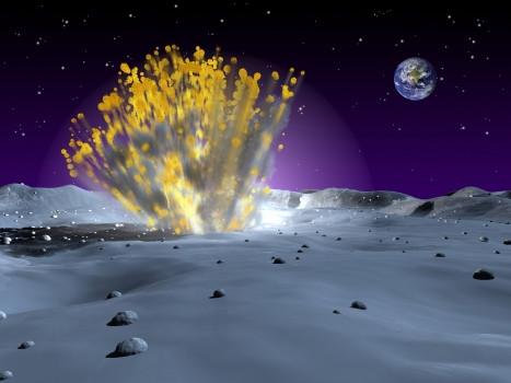 流星雨幫月球砸出水來