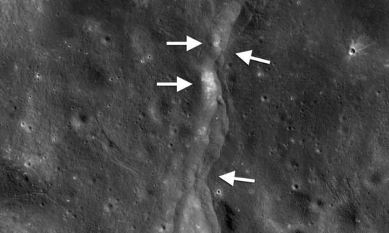 月球收縮時產生月震