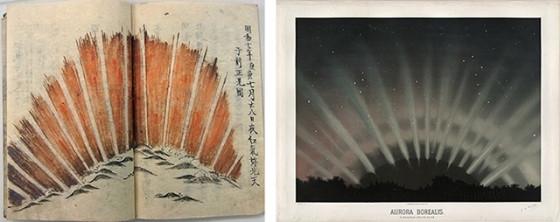 六十年前的扇形極光和巨大的磁暴之間的聯繫