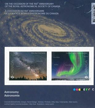 香港郵政代銷海外郵品:《天文》(翌日最後)