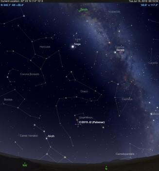 中國天文學家葉泉誌發現一顆新彗星