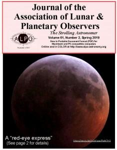 早前的月球和行星觀測者協會期刊現在可以免費下載閲讀