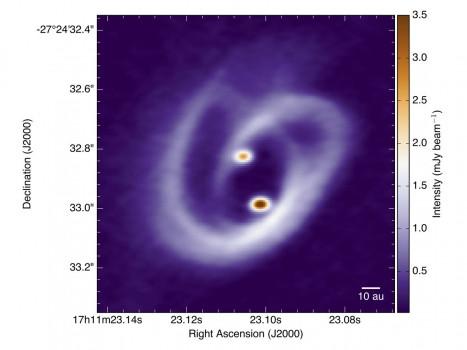 天文學家拍攝到兩顆恆星如何在新生雙星系統吸積過程